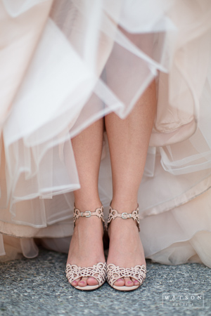 wedding shoes captured by Watson Studios