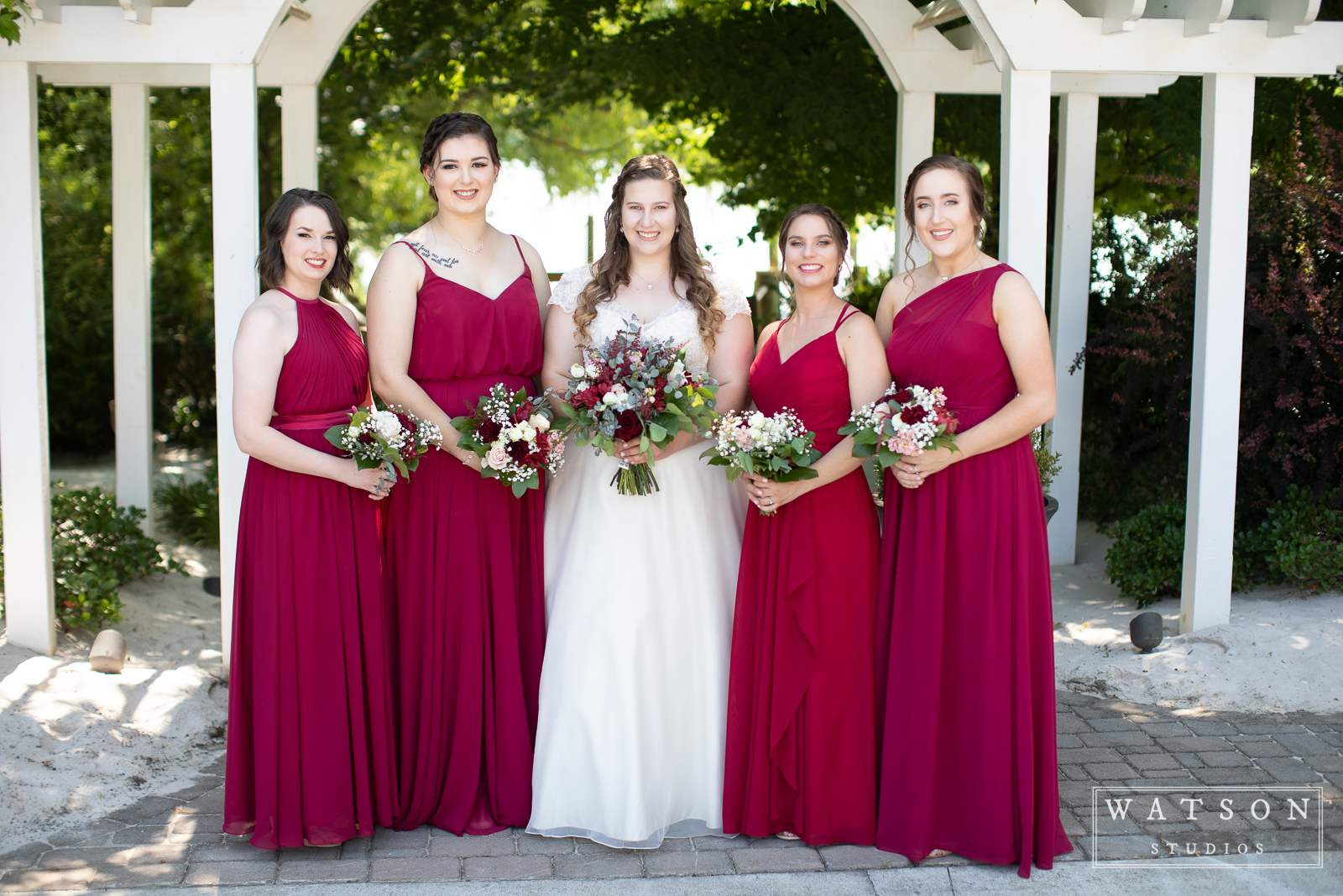Bride and bridesmaids at the Pavilion at Hunter Valley Farm