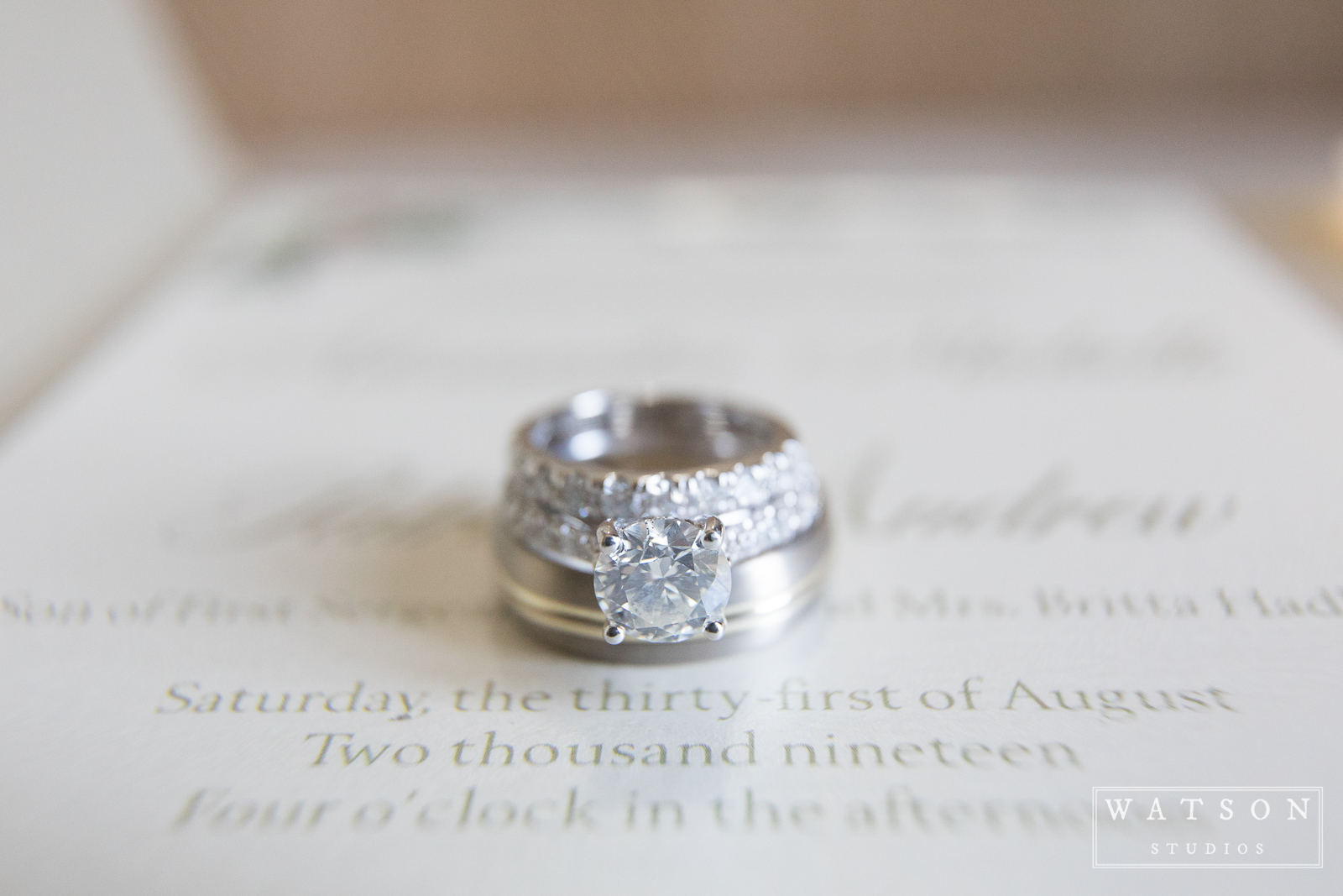 East Ivy Mansion Wedding Rings