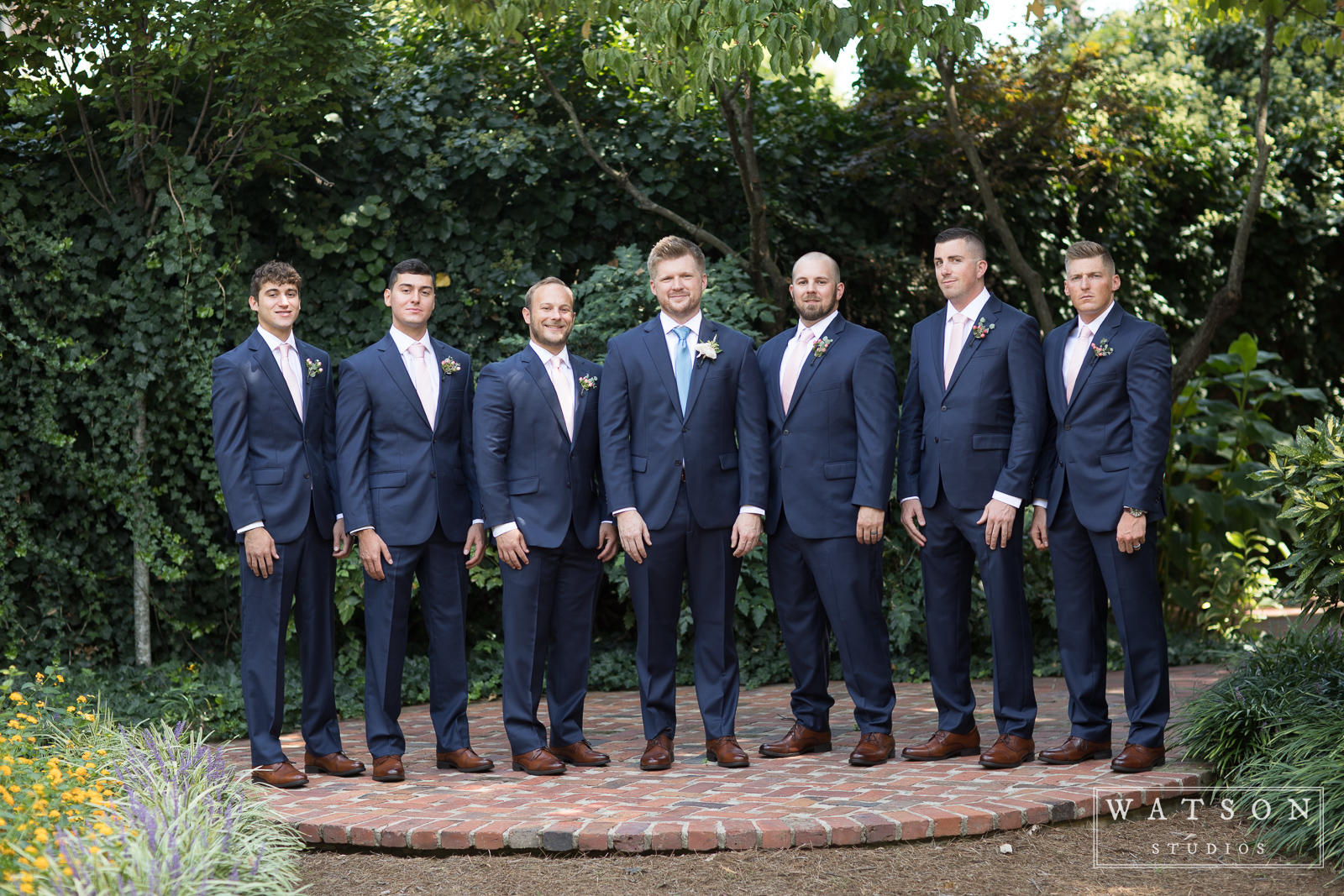 Groomsmen at an East Ivy Mansion Wedding