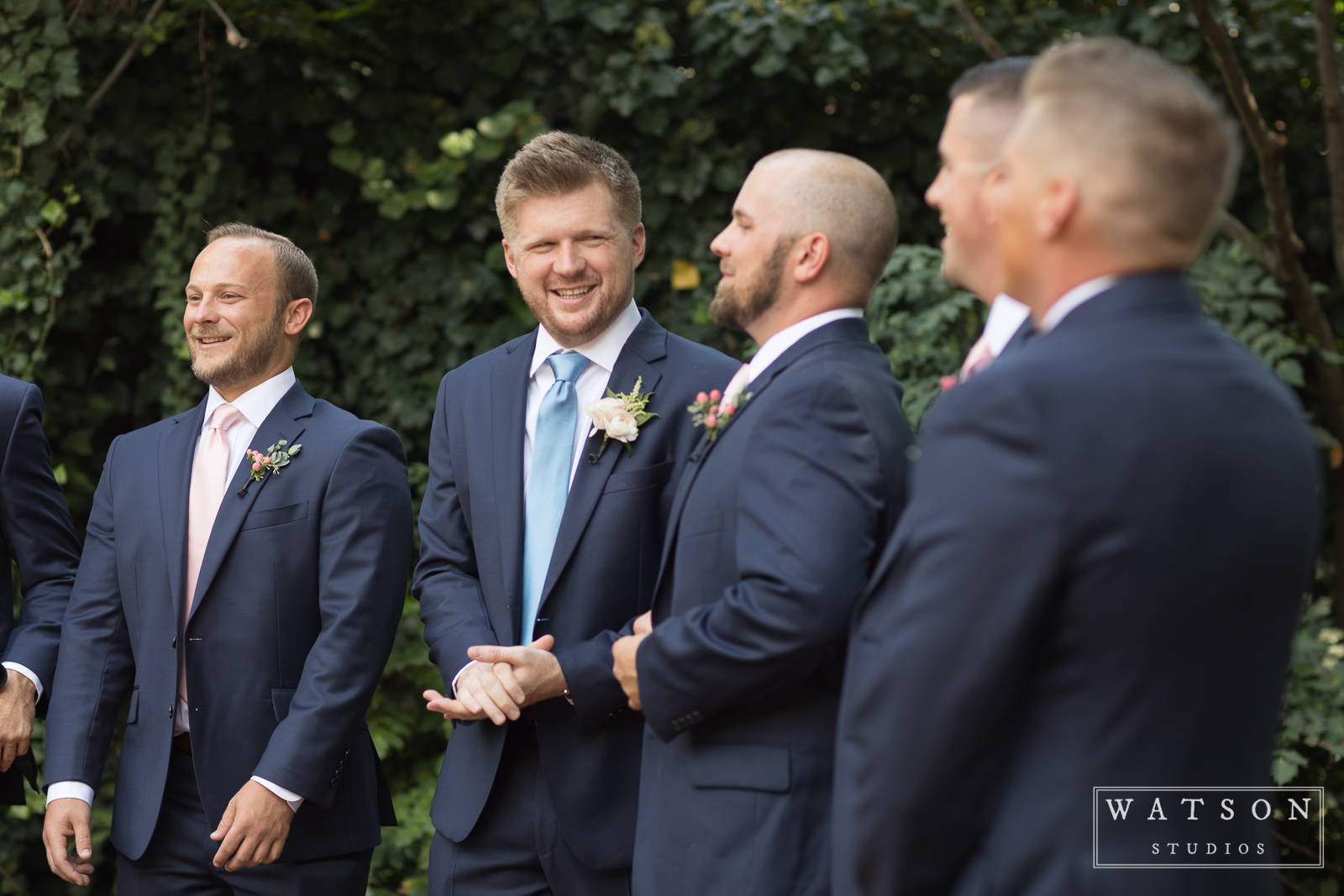 Groomsmen at East Ivy Mansion Wedding