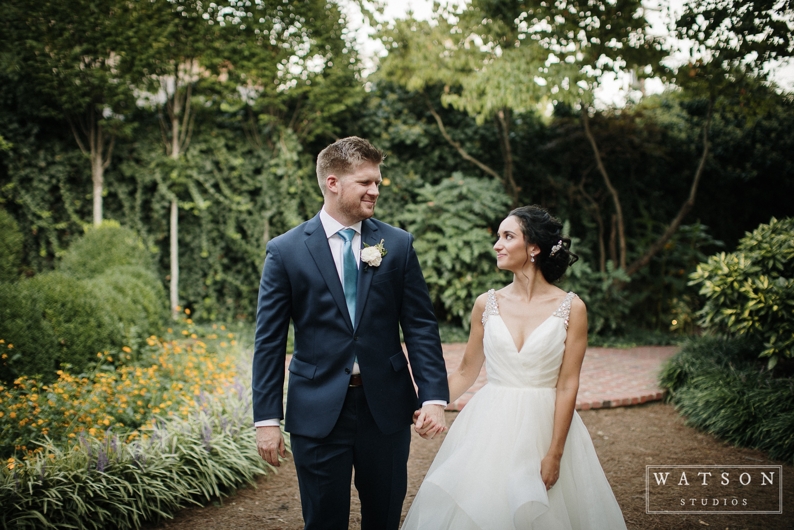 Bride and Groom at East Ivy Mansion wedding