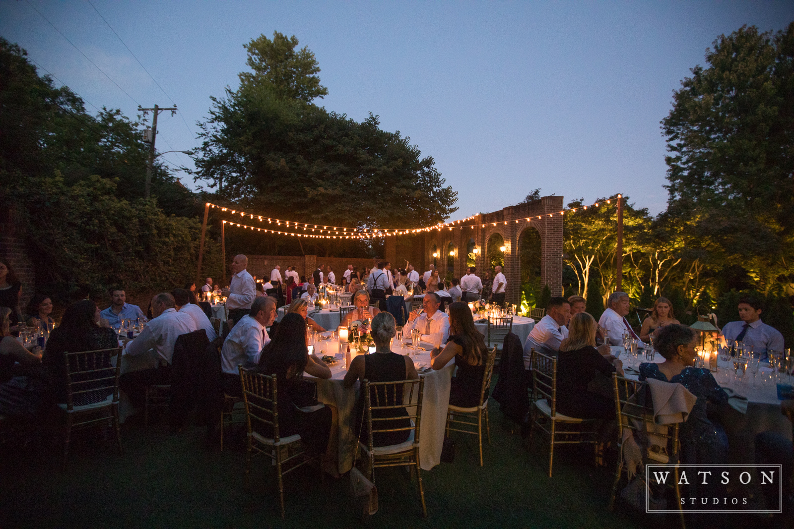 East Ivy Mansion outdoor wedding reception