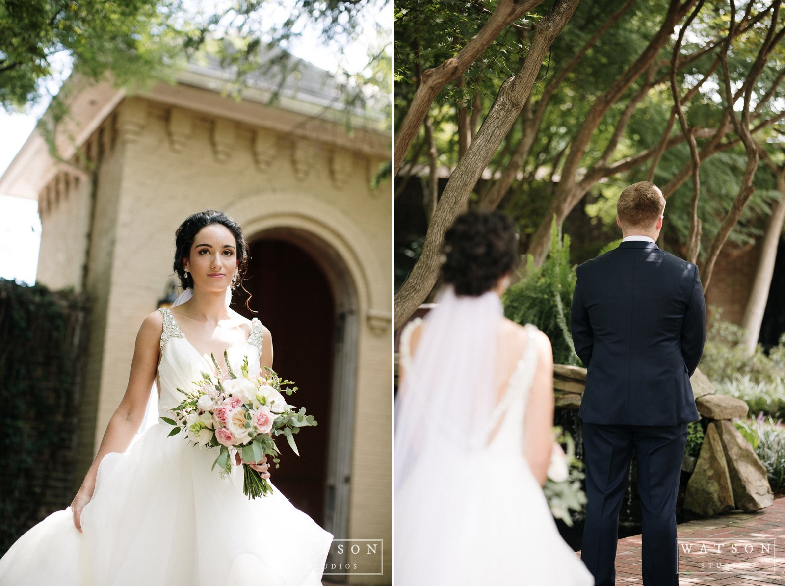 East Ivy Mansion wedding first look