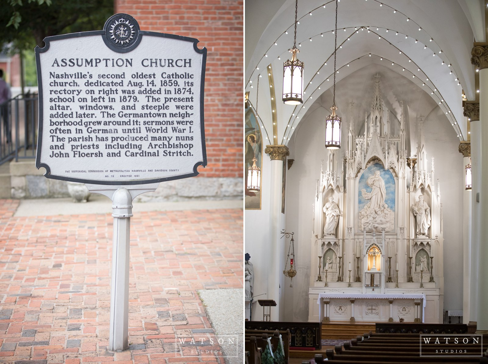 Church of the Assumption Wedding Nashville