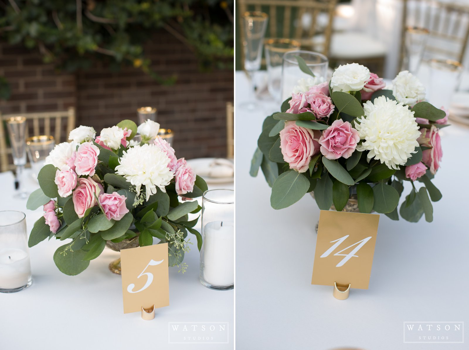 East Ivy Mansion Wedding Centerpieces