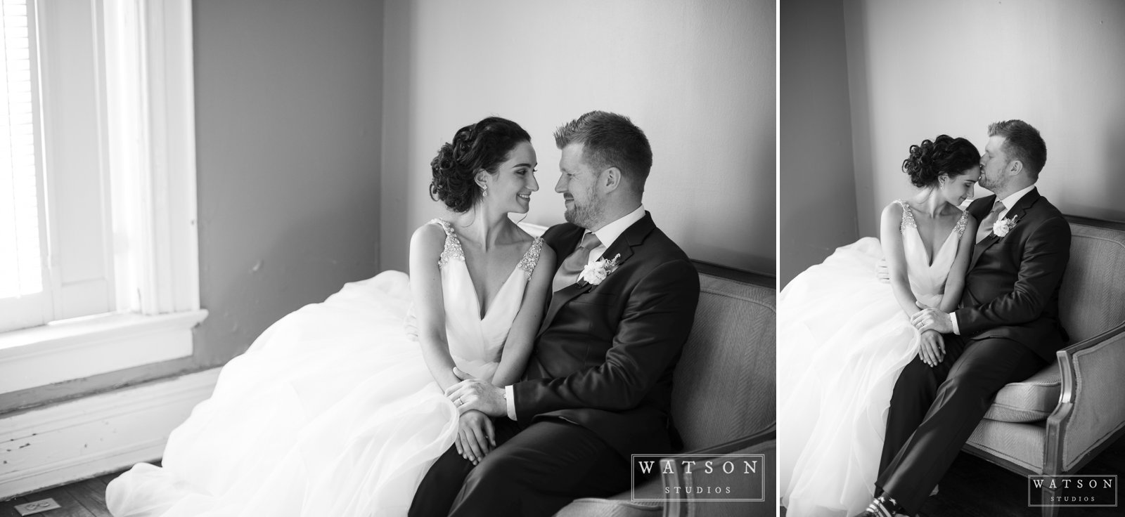 East Ivy Mansion wedding couple