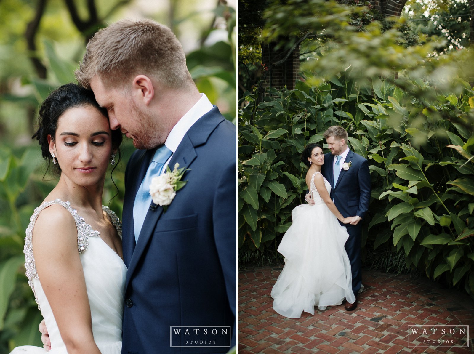 Bride and Groom portraits at East Ivy Mansion